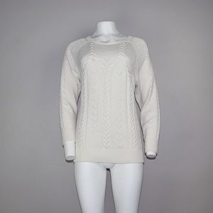 Bebe Tie Back Ivory Sweater